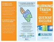 Burning Trash Brochure